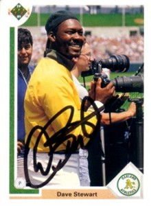 Dave Stewart autographed Oakland A's 1991 Upper Deck card