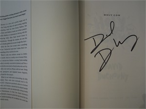David Duchovny autographed Holy Cow hardcover first edition book NEW
