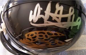 David Garrard autographed Jacksonville Jaguars mini helmet