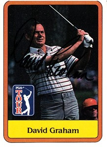 David Graham autographed 1981 Donruss golf card