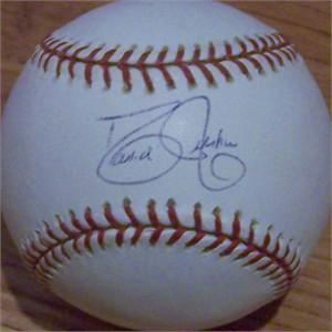 David Justice autographed MLB baseball