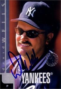 David Wells autographed 1998 New York Yankees jumbo card