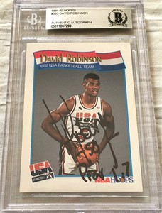 David Robinson autographed 1991-92 Hoops USA Dream Team card