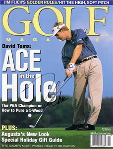 David Toms autographed 2001 Golf Magazine