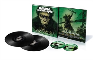 Dawn of the Planet of the Apes 2017 Comic-Con exclusive vinyl soundtrack Blu-ray DVD limited edition package