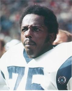Deacon Jones Los Angeles Rams 8x10 color portrait photo