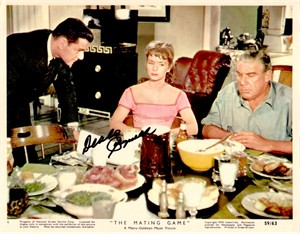 Debbie Reynolds autographed The Mating Game 8x10 movie publicity photo