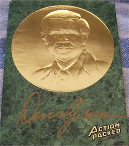 Denny Crum certified autograph Louisville Cardinals Action Packed Hall of Fame card
