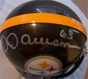 Dermontti Dawson autographed Pittsburgh Steelers mini helmet
