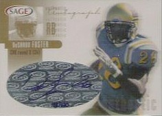DeShaun Foster certified autograph UCLA 2002 SAGE card