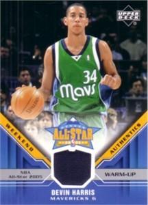 Devin Harris Upper Deck 2005 All-Star Weekend Rookie Challenge game worn warm-up card