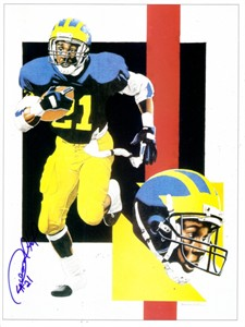 Desmond Howard autographed Michigan Wolverines 8x10 artwork