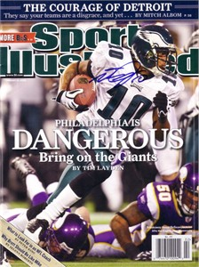 DeSean Jackson autographed Philadelphia Eagles 2009 Sports Illustrated
