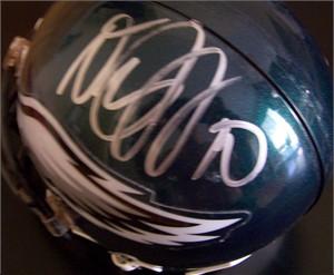 DeSean Jackson autographed Philadelphia Eagles mini helmet