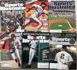 Derek Jeter (first cover) & 3 other Sports Illustrated issues
