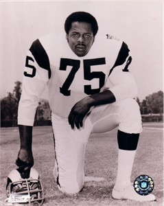 Deacon Jones Los Angeles Rams 8x10 black and white photo
