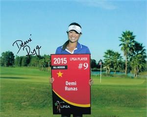 Demi Runas autographed 8x10 LPGA photo