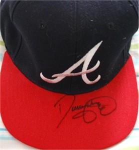 Denny Neagle autographed Atlanta Braves replica cap or hat