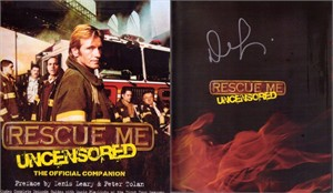 Denis Leary autographed Rescue Me Uncensored book