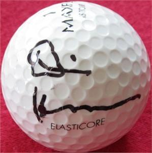 Dennis Hopper autographed golf ball