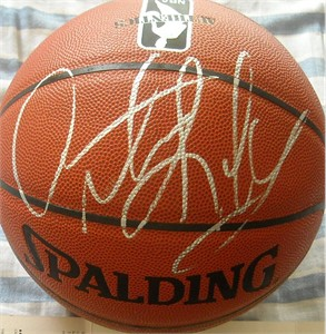 Dennis Rodman autographed Spalding NBA indoor/outdoor basketball