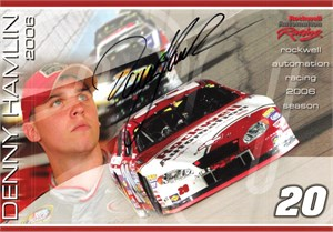 Denny Hamlin autographed FedEx Racing NASCAR photo card