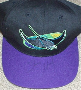 Dennis Quaid (The Rookie) autographed Devil Rays cap
