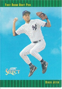 Derek Jeter New York Yankees 1993 Select Rookie Card #360