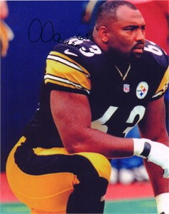 Dermontti Dawson autographed Pittsburgh Steelers 8x10 photo