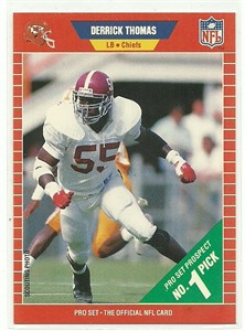 Derrick Thomas Chiefs 1989 Pro Set Rookie Card