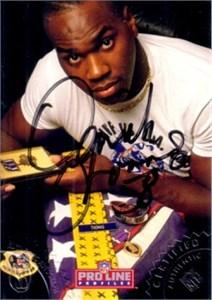 Derrick Thomas certified autograph 1992 Pro Line card