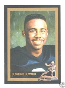 Desmond Howard Michigan Heisman Trophy winner card
