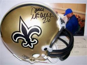 Deuce McAllister autographed New Orleans Saints mini helmet