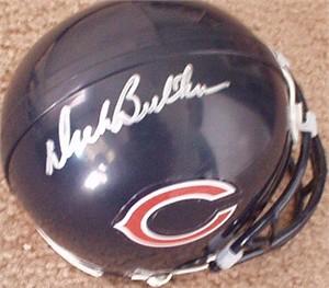 Dick Butkus autographed Chicago Bears mini helmet