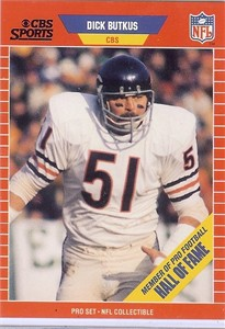 Dick Butkus Chicago Bears 1989 Pro Set Announcers card