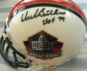 Dick Butkus autographed Pro Football Hall of Fame authentic mini helmet