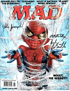 Dick DeBartolo autographed MAD magazine & Alfred E. Neuman print