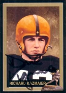 Dick Kazmaier autographed Princeton 1951 Heisman Trophy card