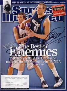Dirk Nowitzki & Steve Nash autographed 2007 Sports Illustrated