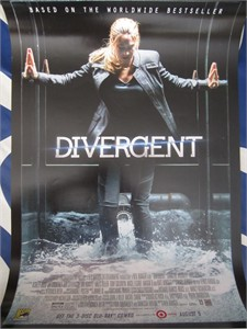 Divergent 2014 Comic-Con exclusive 13x20 mini movie poster NEW