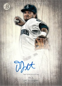 D.J. Peterson Seattle Mariners 2014 Bowman Inception certified autograph card