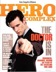 Doctor Who Hero Complex 2013 LA Times magazine MINT (Matt Smith)
