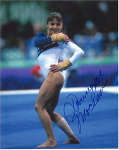 Dominique Moceanu autographed 8x10 gymnastics photo