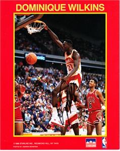 Dominique Wilkins autographed Atlanta Hawks 8x10 dunk photo