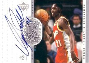 Dominique Wilkins certified autograph Atlanta Hawks 2000-01 Upper Deck Legendary Signatures card