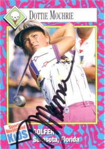 Dottie Pepper autographed 1993 Sports Illustrated for Kids golf Rookie Card