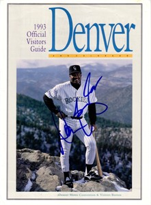 Don Baylor autographed Colorado Rockies 1993 magazine cover