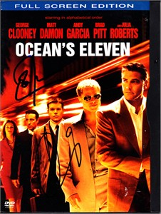 Don Cheadle & Andy Garcia autographed Ocean's Eleven DVD box