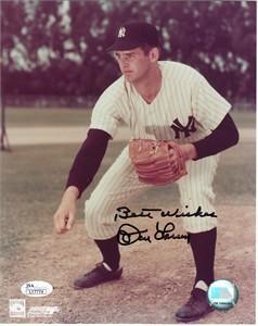 Don Larsen autographed New York Yankees 8x10 photo (JSA)