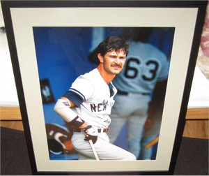 Don Mattingly autographed New York Yankees 16x20 poster size photo matted & framed PSA/DNA